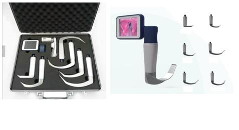 Bộ đặt nội khí quản có camera và phụ kiện đi kèm (loại lưỡi tái sử dụng dùng cho người lớn; trẻ em và trẻ sơ sinh)