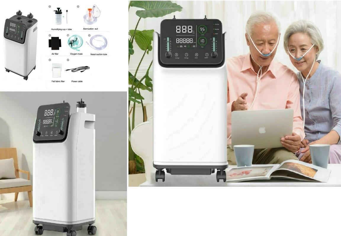 Máy tạo Oxy đa năng kèm phun sương (dùng cho gia đình & cá nhân); công suất 10 lít; với màn hình cảm ứng Led 12inch sử dụng được cùng 01 lúc cho 02 người