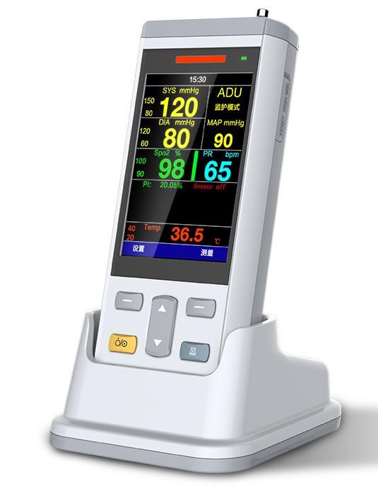 Máy đo độ bảo hoà Ôxy trong máu (Máy SpO2 loại cầm tay) kiêm chức năng đo huyết áp và nhiệt độ