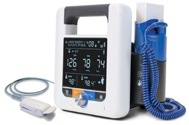 Máy đo độ bảo hoà ôxy trong máu (SpO2) loại di động kiêm đo huyết áp và nhiệt độ