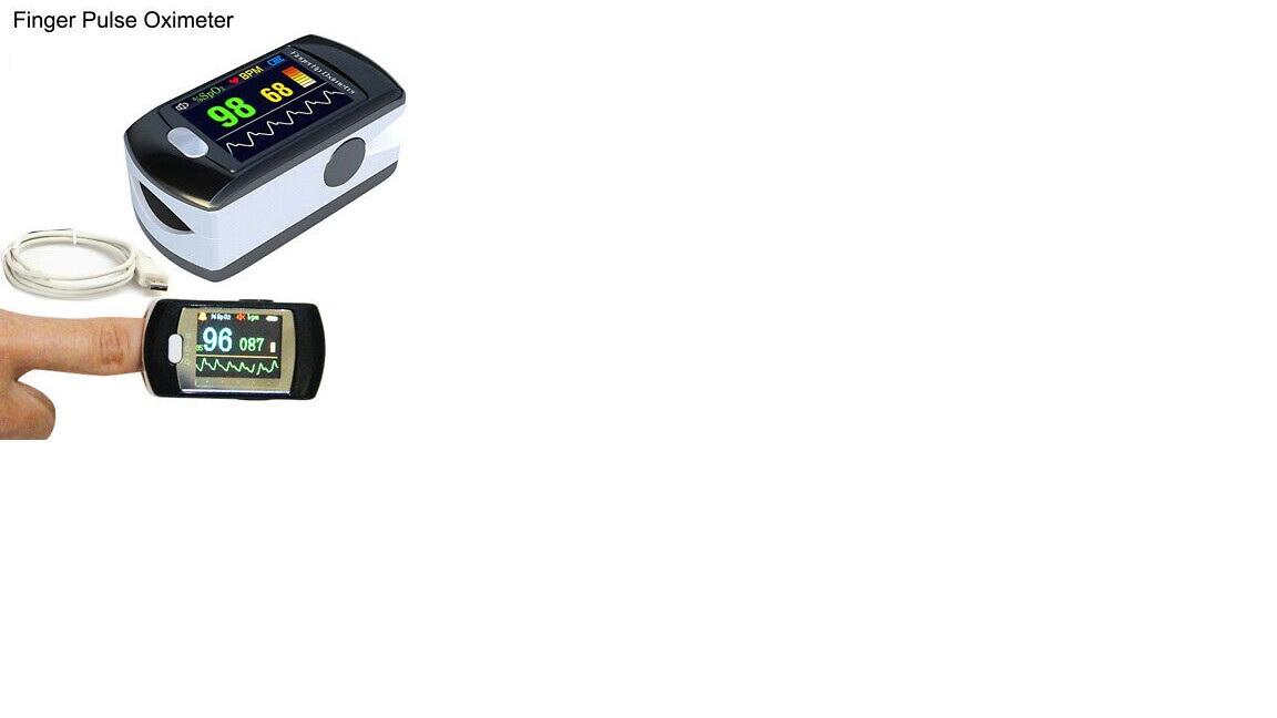 Máy đo độ bảo hòa Ôxy trong máu loại kẹp ngón tay với màn hình màu; Pin có thể sạc lại với phần mềm PC