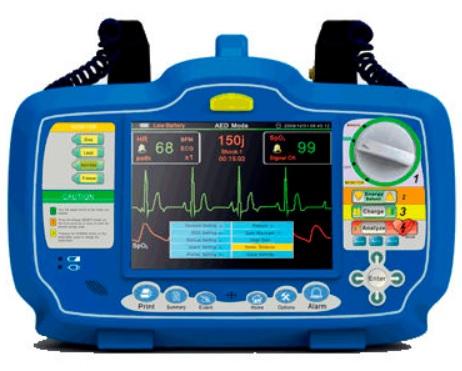Máy sốc tim và tạo nhịp lưỡng pha bán tự động