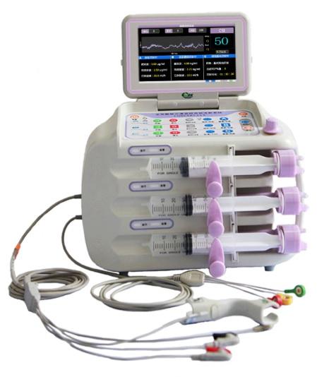 Hệ thống tiêm truyền vòng kín dùng trong gây mê tích hợp màn hình theo dõi EEG