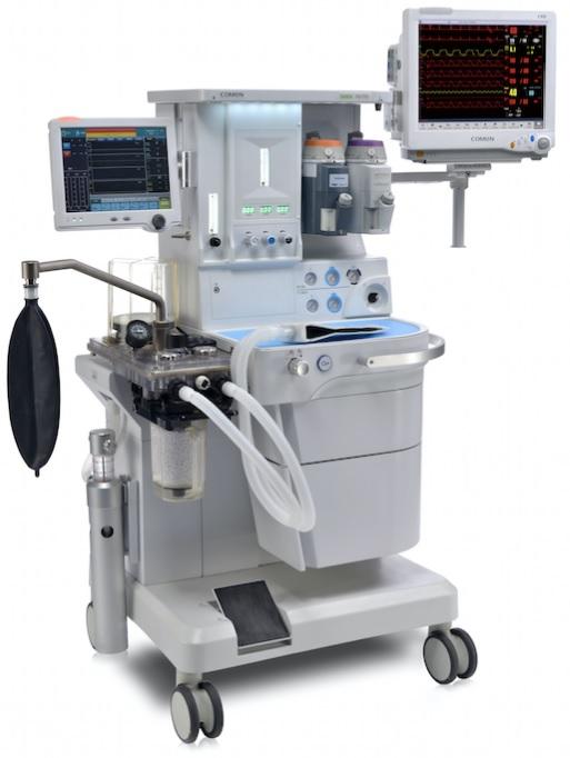 Máy gây mê kèm thở với màn hình cảm ứng LCD 12inch có chức năng thu hồi khí mê