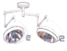 Đèn mổ treo trần 02 chóa ánh sáng bóng mờ - Ceiling Shadowless Operation Lamp 2 Arms Double Reflector