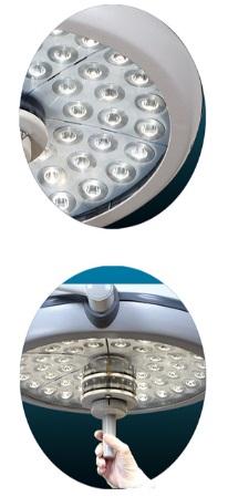 Đèn mổ LED treo trần lớn ánh sáng lạnh (2 nhánh).