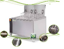 Máy rửa dụng cụ bằng sóng siêu âm với dung tích 195 lít