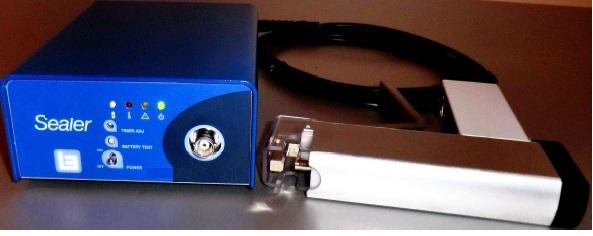 Máy hàn dây túi máu sử dụng Pin sạc