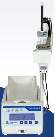 Máy lắc túi máu kiêm hàn túi máu có cân trọng lượng; có đầu đọc mã vạch sử dụng điện và Pin sạc