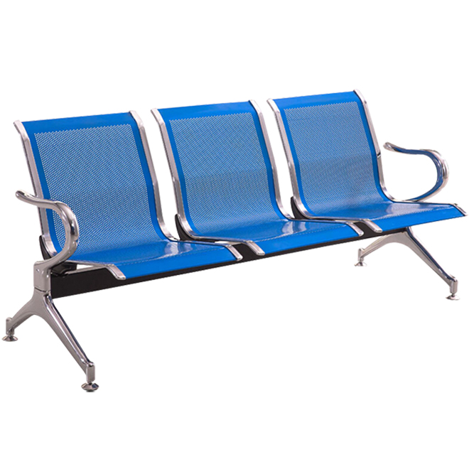 Băng ghế chờ dành cho bệnh nhân loại băng 03 ghế bằng thép không gỉ
