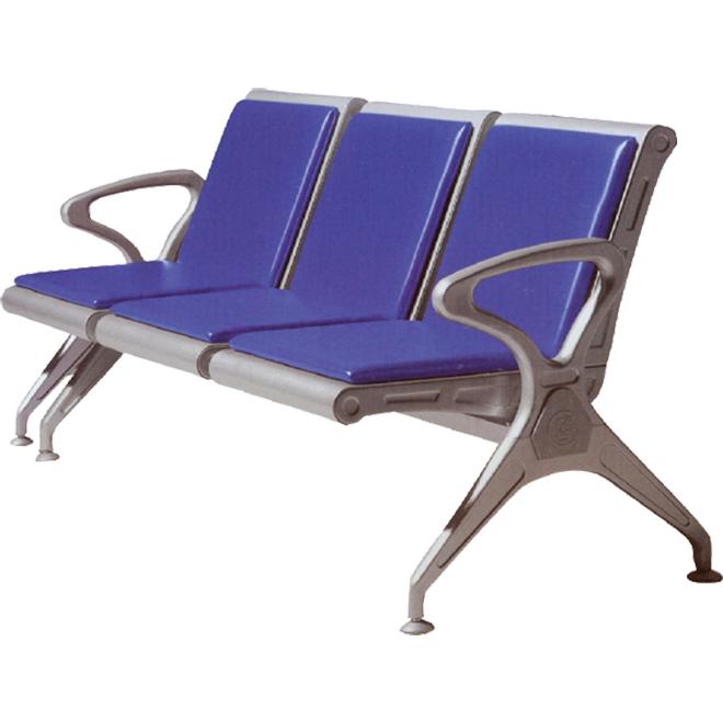 Băng ghế chờ dành cho bệnh nhân loại băng 03 ghế có bọc nệm PU
