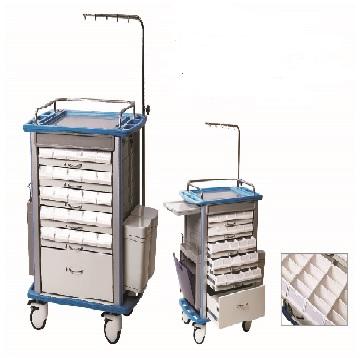 Xe đẩy tiêm thuốc dùng trong cấp cứu và cấp phát thuốc