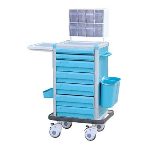 Xe đẩy y tế - Xe đẩy tiêm thuốc dùng trong gây mê và cấp phát thuốc đa chức năng