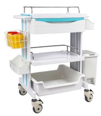 Xe đẩy y tế - Xe đẩy tiêm thuốc dùng trong điều trị và thay băng vết thương