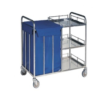 Xe đẩy đồ dơ - Trolley for Dirty Linen & Waste, S.S