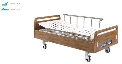 Giường chăm sóc bệnh nhân tại nhà 2 chức năng 2 tay quay