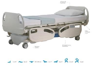 Giường hồi sức cấp cứu 7 chức năng điều khiển điện có khay X_ray