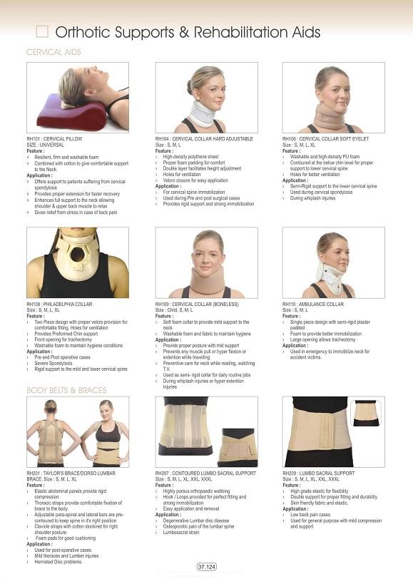Vật tư tiêu hao khoa CTCH - Đai nẹp cổ - lưng các loại