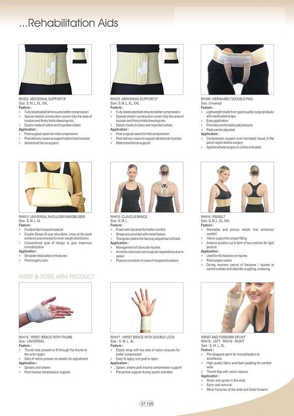Vật tư tiêu hao khoa CTCH - Đai nẹp lưng - tay các loại