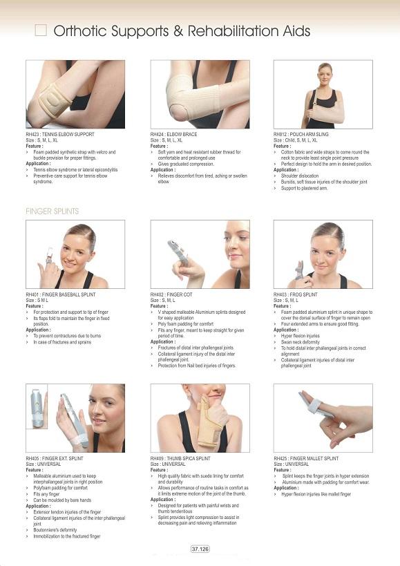 Vật tư tiêu hao khoa CTCH - Đai nẹp khuỷ tay & ngón tay các loại