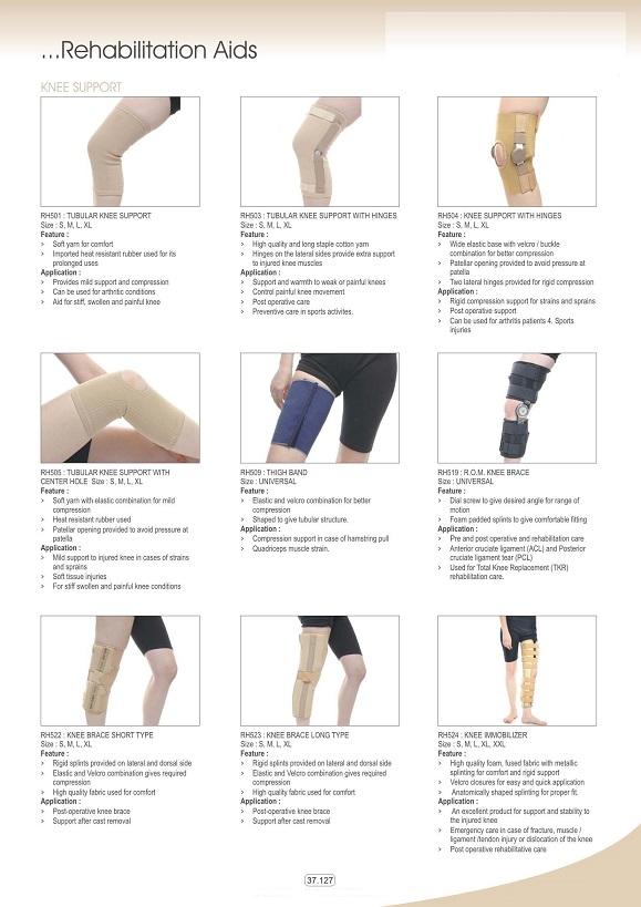Vật tư tiêu hao khoa CTCH - Đai nẹp chân & khuỷu chân các loại