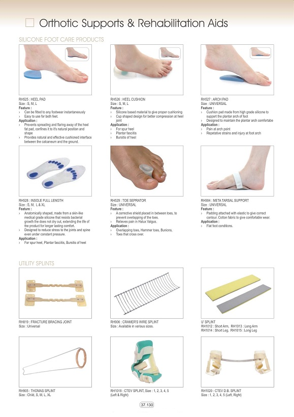 Vật tư tiêu hao khoa CTCH - Dụng cụ tập vật lý trị liệu các loại