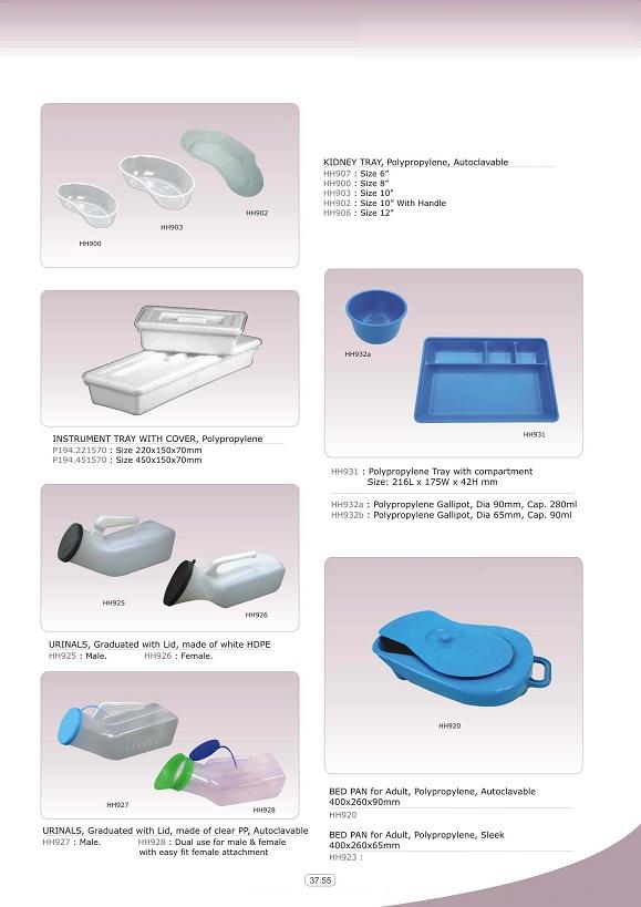Vật tư tiêu khoa tổng hợp - Bô tiểu nhựa các loại