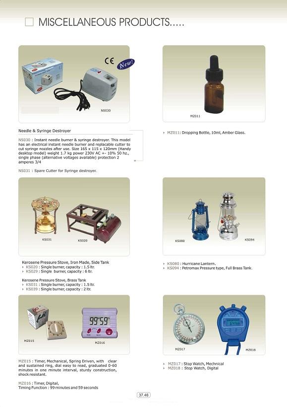 Vật tư tiêu hao khoa tổng hợp - Máy hủy kim tiêm & đèn thắp sáng áp lực bằng dầu (Măng-Sông)