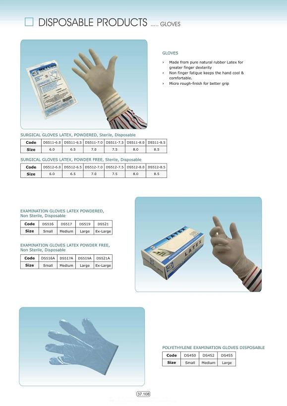Vật tư tiêu hao khoa tổng hợp - Găng tay y tế & phẫu thuật các loại