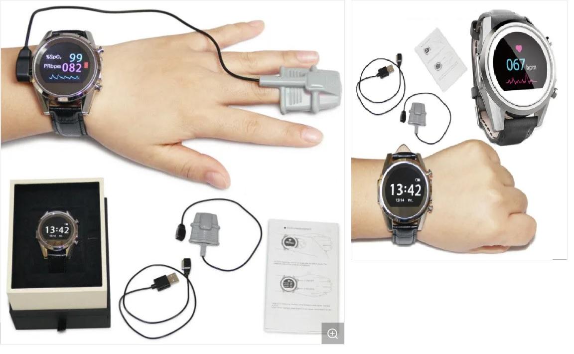 Đồng hồ thông minh OLED theo dõi sức khỏe điện tâm đồ; SpO2; nhịp thở; đo bước đi thể thao; đặc biệt chống thấm nước