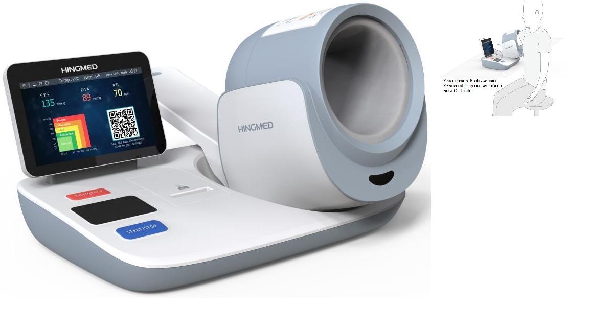 Máy theo dõi huyết áp tự động lâm sàng có kết nối Wifi với PC; Smartphone; Máy tính bảng với hệ điều hành Android