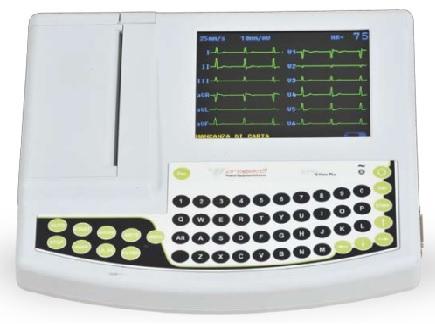 Máy điện tim 3/6/12 cần kỹ thuật số với màn hình hiển thị và thuyết minh