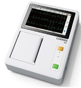 Máy điện tim 3 kênh (kỹ thuật số) với màn hình cảm ứng