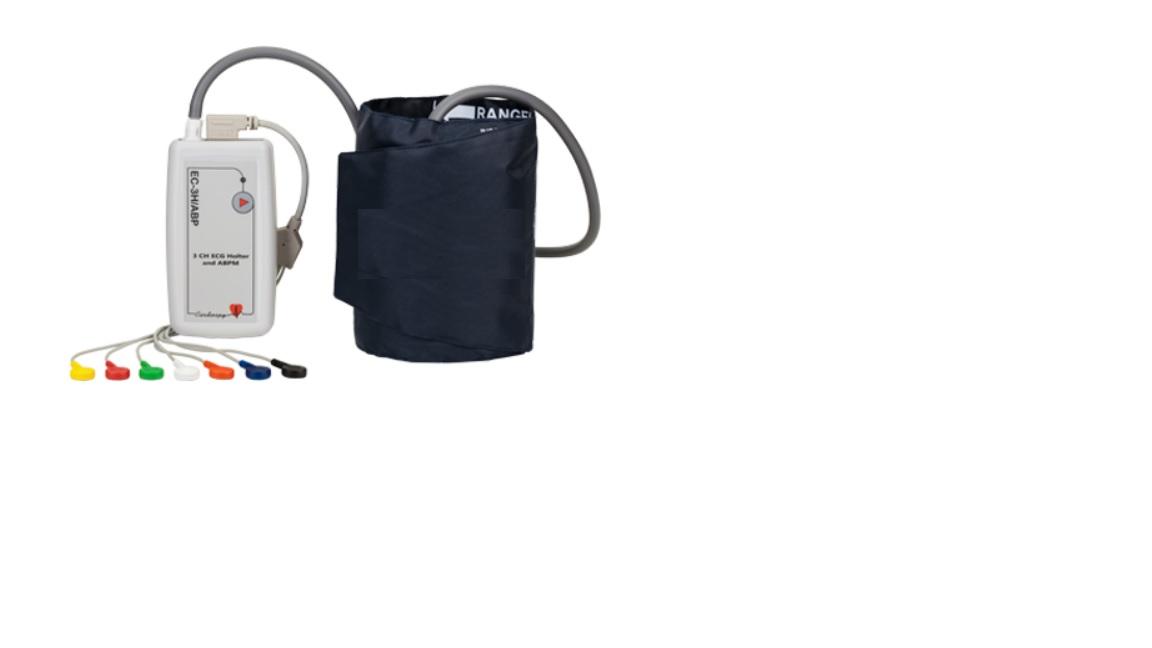 Máy đo điện tim 03 kênh có tích hợp đo huyết áp và Holter ECG 3 kênh loại dùng tại giường; tại nhà; trên xe cứu thương loại cầm tay có kết nối Blutooth với Smartphone bởi hệ điều hành Android