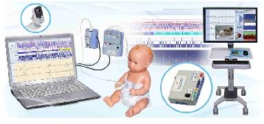Máy giám sát chức năng não - Máy đo điện não đồ cho trẻ sơ sinh và trẻ em đa chức năng (đo điện não đồ; đo điện tim; đo SpO2; …)