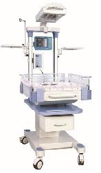 Giường sưởi ấm trẻ sơ sinh kiêm bàn làm rốn có chức năng hồi sức và điều trị vàng da; có hệ thống kiểm soát nhiệt độ bằng bộ vi xử lý servo thông qua màn hình hiển thị vơ