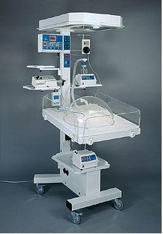 Giường sưởi ấm trẻ sơ sinh kiêm bàn làm rốn có chức năng hồi sức cấp cứu và điều trị vàng da