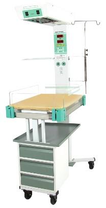 Giường sưởi ấm trẻ sơ sinh kiêm bàn làm rốn với bộ vi xử lý điều khiển nhiệt độ 03 chế độ (da; khí; bằng tay)