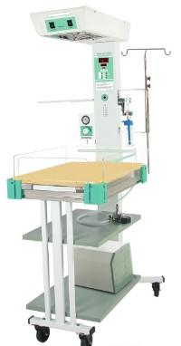 Giường sưởi ấm trẻ sơ sinh kiêm bàn làm rốn có chức năng hồi sức với bộ vi xử lý điều khiển nhiệt độ 03 chế độ (da; khí; bằng tay)