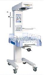 Giường sưởi ấm trẻ sơ sinh kiêm bàn làm rốn có hệ thống kiểm soát nhiệt độ bằng bộ vi xử lý servo với 03 chế độ (làm ấm trước; tự động; bằng tay) và kết nối computer