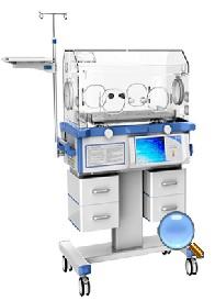 Lồng ấp trẻ sơ sinh cao cấp đa chức năng với chế độ kiểm soát khí và da; có đèn điều trị vàng da mặt trên và dưới; có khay X_Ray; có hệ thống kiểm soát độ ẩm; có kết nối được với