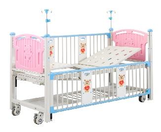 Giường ngủ cao cấp bằng tay quay loại bán tự động cho trẻ em có lan can (có thể nâng đầu và nâng gối)