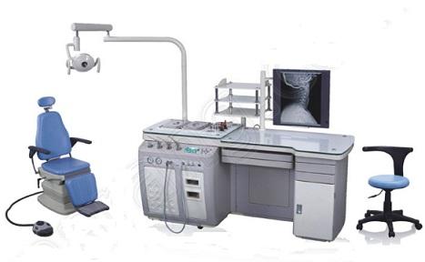 Hệ thống bàn khám tai mũi họng với bồn chứa rác tích hợp bên trong