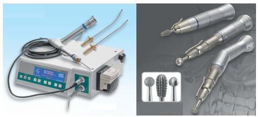 Máy khoan xương chũm và máy nạo mô mềm dùng trong phẫu thuật mũi xoang; tai xương chũm và nạo VA (Microdebrider)