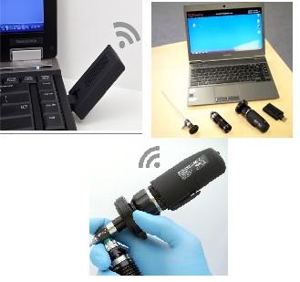 Máy nội soi kỹ thuật số không dây dùng trong chẩn đoán Tai Mũi Họng loại xách tay và cầm tay kết hợp với Laptop