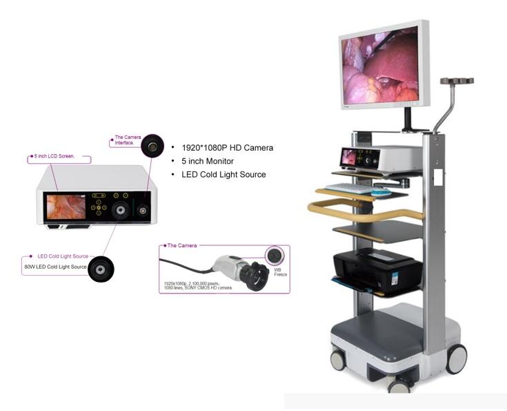 Hệ thống nội soi Full HD với Camera & nguồn sáng tích hợp thành một khối