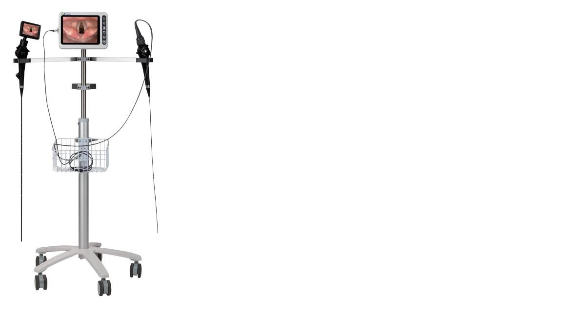 Dây soi mềm mũi xoang; hầu họng; thanh quản loại cầm tay với màn hình LCD 3.5inch hoặc 8.0 inch